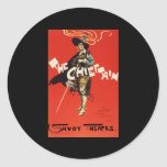 Dudley Hardy The Chieftain Savoy Theatre Classic Round Sticker