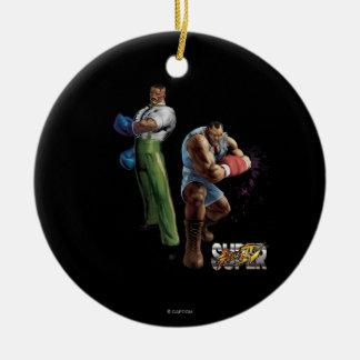 Dudley Vs. Balrog Ceramic Ornament