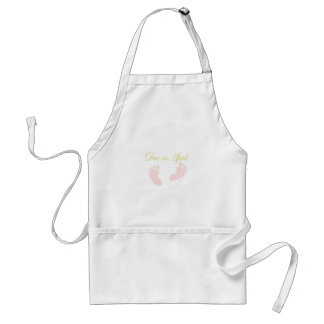 Due in April Baby Feet Design Adult Apron