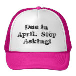 Due in April Cap Mesh Hats