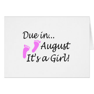 Due In August Card