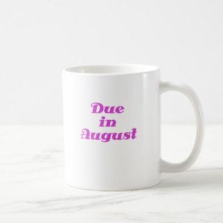 Due in August Coffee Mug