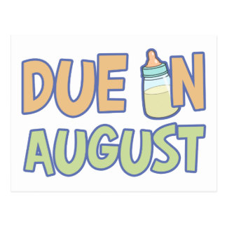 Due In August Postcard