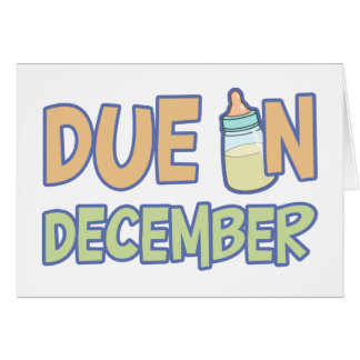 Due In December Card