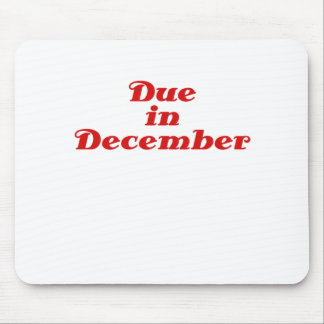 Due in December Mouse Pad