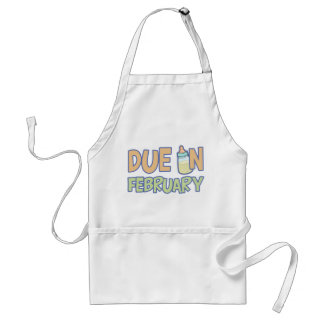 Due In February Adult Apron