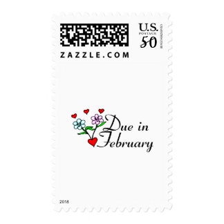 Due In February (Hearts) Postage