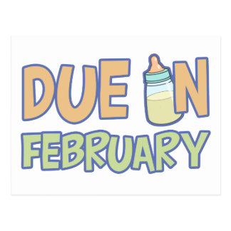 Due In February Postcard