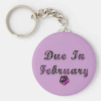 Due In February Products Basic Round Button Keychain