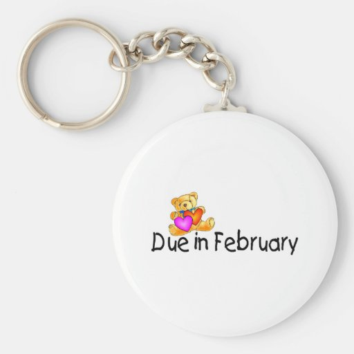 Due In February (Teddy) Key Chain