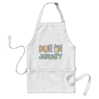 Due In January Adult Apron