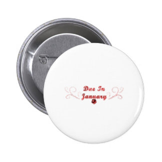 Due In January Pinback Button