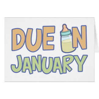 Due In January Card