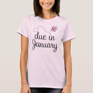 Due In January Maternity Tee Shirt
