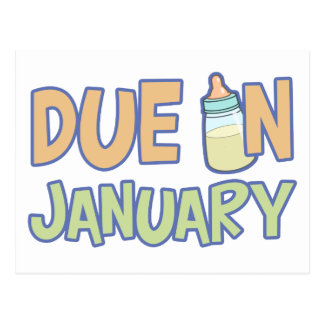 Due In January Postcard