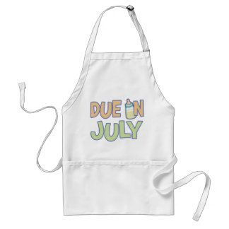 Due In July Adult Apron