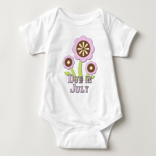 Due in July Expectant Mother Baby Bodysuit
