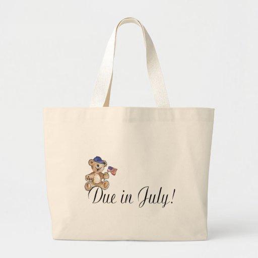 Due In July Jumbo Tote Bag