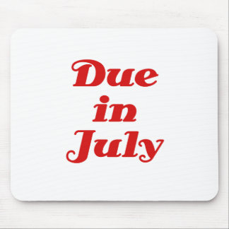 Due in July Mouse Pad