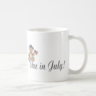 Due In July (Teddy) Coffee Mug