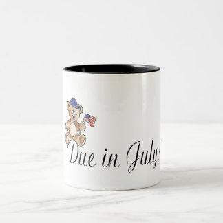 Due In July Two-Tone Coffee Mug