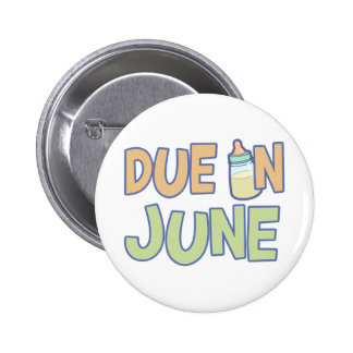 Due In June 2 Inch Round Button