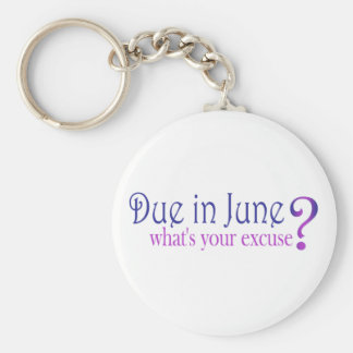 Due In June Keychain