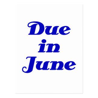 Due in June Postcard