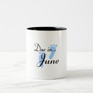 Due In June Two-Tone Coffee Mug