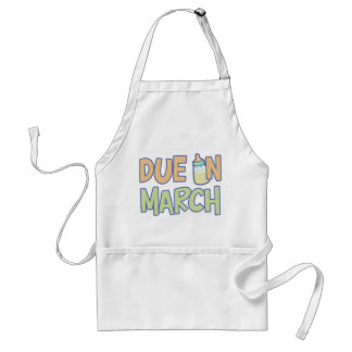 Due In March Adult Apron