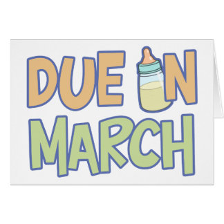 Due In March Card