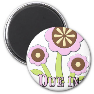 Due in March Expectant Mother 2 Inch Round Magnet