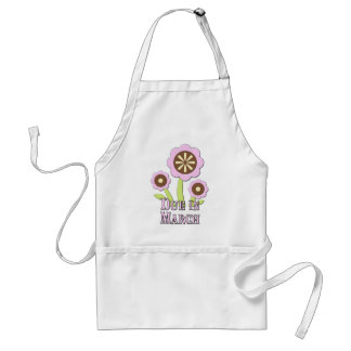 Due in March Expectant Mother Adult Apron
