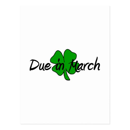Due In March Postcard