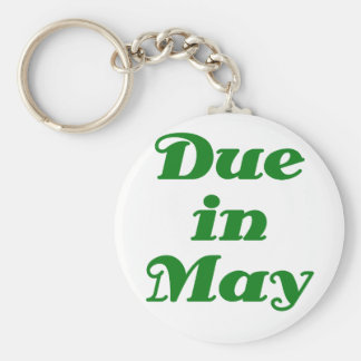 Due in May Keychain