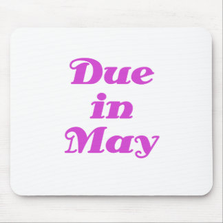 Due in May Mouse Pad