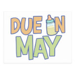 Due In May Postcard