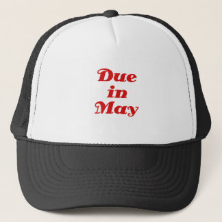 Due in May Trucker Hat