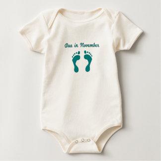 DUE IN NOVEMBER BLUE BABY FEET.png Bodysuit