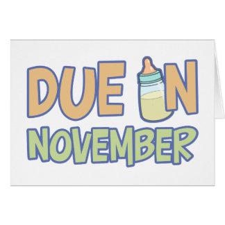 Due In November Card