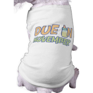 Due In November Pet Tshirt