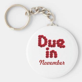 Due in November Keychain