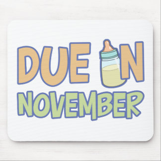 Due In November Mouse Pad
