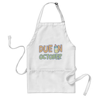 Due In October Adult Apron