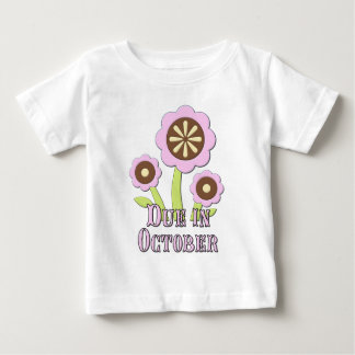 Due in October Expectant Mother Baby T-Shirt
