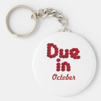 Due in October Keychain