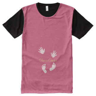 Due in October Maternity Design All-Over Print T-shirt