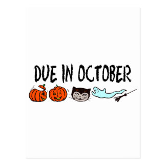 Due In October Post Cards