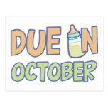 Due In October Postcard