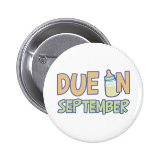 Due In September Pinback Buttons